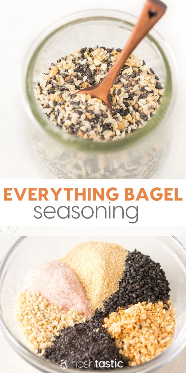 Everything Bagel Seasoning, This remake of a Trader Joe's Classic is perfect for Whole30, Paleo, Keto and l… | Spice recipes, Seasoning recipes, Homemade seasonings