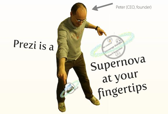 Prezi is a cloud-based presentation software that opens up a new world between whiteboards and slides. The zoomable canvas makes it fun to explore ideas and the connections between them. The result: visually captivating presentations that lead your audience down a path of discovery.