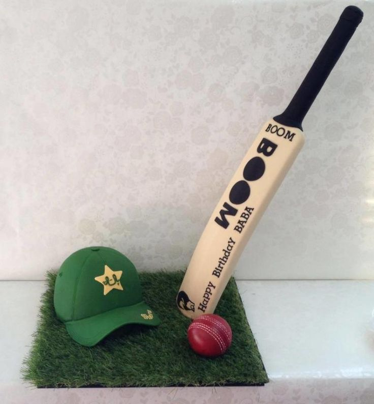 standup bat,Cricket theme cake - Cake by Cakes for mates