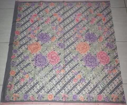 Batik encim pekalongan, parang, grey