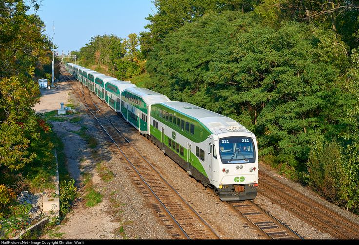 GOT 311 GO Transit (Greater Toronto Transit Authority) Bombardier Cab Car at Aldershot, Ontario, Canada by Christian Waelti