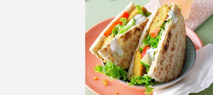 Rezept Falafel-Pita mit Salat