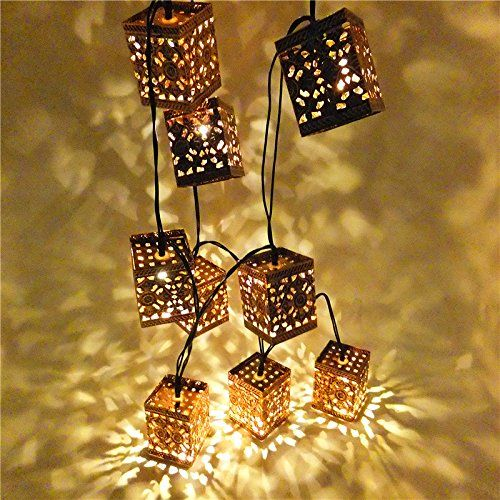 Superior Sunniemart 10 LED Lantern Warm White String Lights Solar Powered Outdoor  Decorative Lights Fairy Lights Ideal