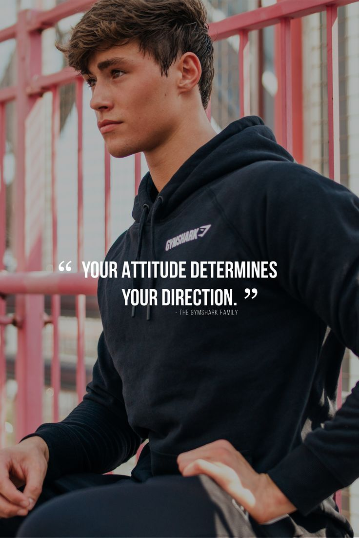 Your attitude determines your direction - Gymshark fitness quote