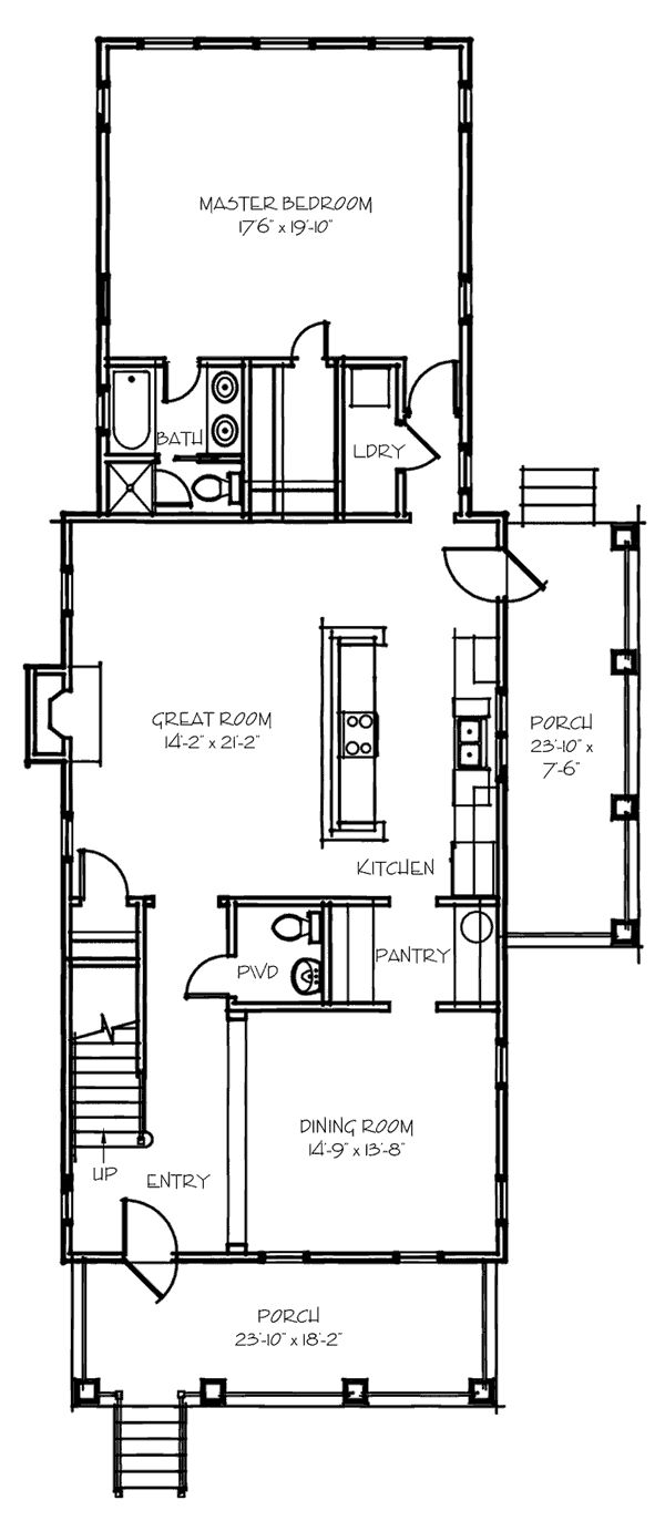 84 best house plans images on pinterest house floor plans narrow house plan visible dining and living from kitchen
