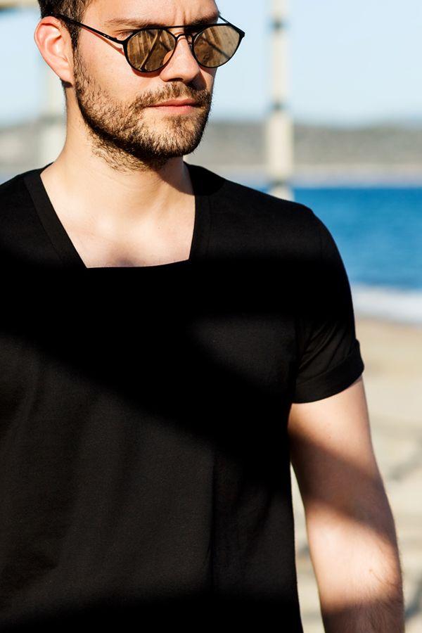 You are so much sunshine in every square inch C▪️A▪️I▪️N▪️A black square-neck tshirt #black #square #tshirt #cotton #sunshine #sun #morning #hunk #men #menswear #menstyle #menswear #mensfashion #sunglasses #beach #sand #dantemen #dantemenswear #dante #dantestyle #madeformen #potd #motd #ootd #urban #boheme #summerstyle #ss16 #homagetomanhood