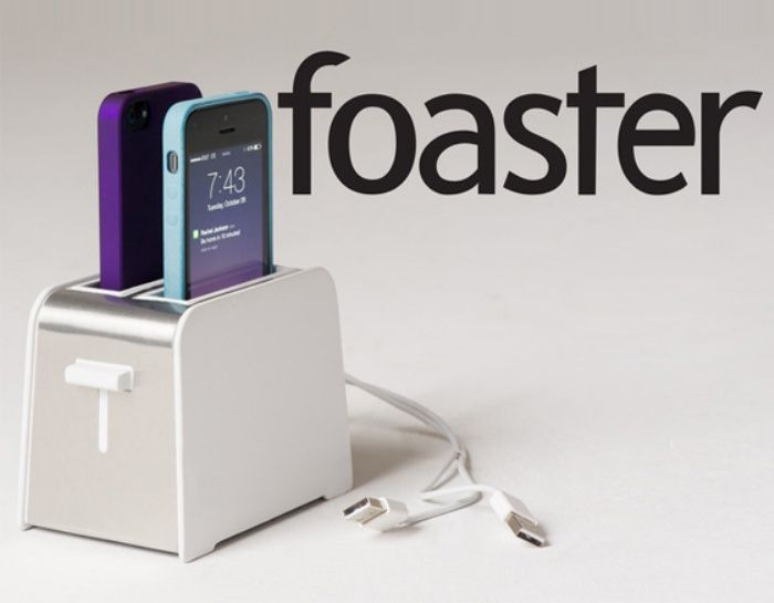 Adorable Toaster charger- phones pop up when fully charged