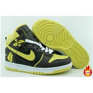 mens nike dunk yellow red