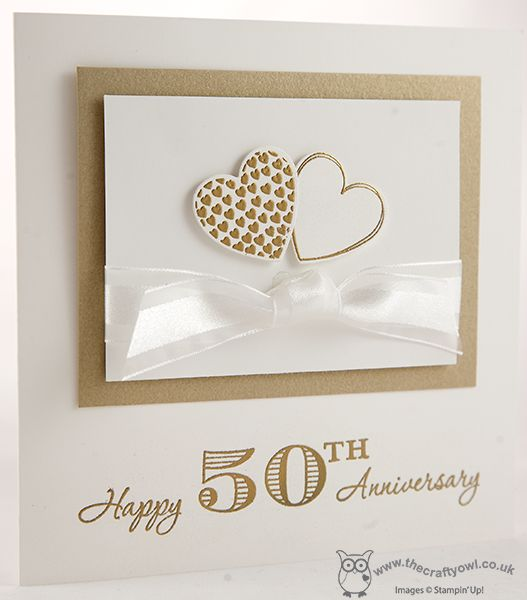 Hearts of Gold hearts a flutter stampin up golden anniversary www.blog.thecraftyowl.co.uk