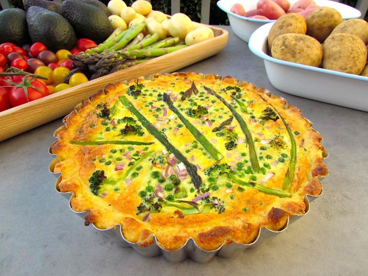 Spring Vegetable Pie with Asparagus and Potato Crust Pastry