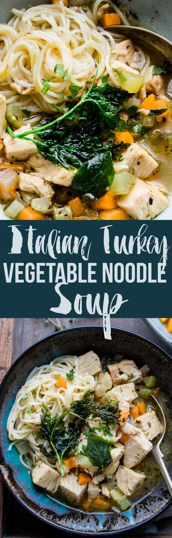 Italian Turkey Noodle Soup