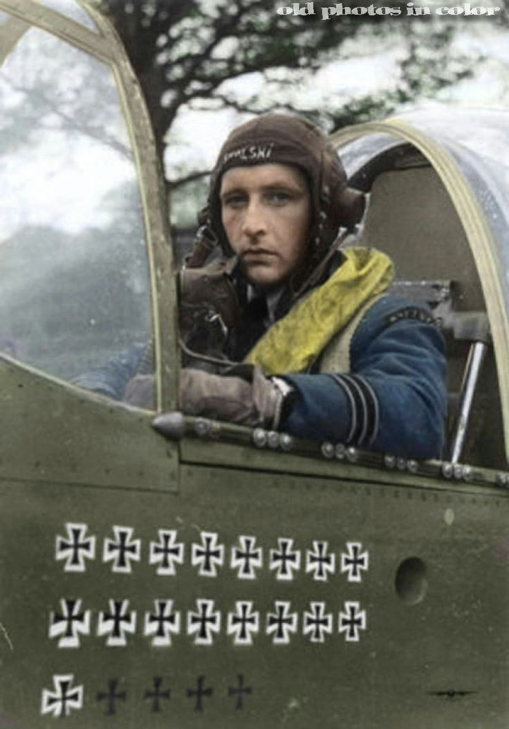 """Stanisław Skalski was a Polish fighter ace of the Polish Air Force in World War II. On 1 September 1939 he attacked a German Henschel Hs 126 reconnaissance aircraft, which was eventually shot down by Marian Pisarek. Skalski then landed next to it, helped to bandage wounded crew members and arranged for them to be taken to a military hospital. By 16 September Skalski reached """"ace"""" status, claiming a total of six German aircraft and making him the first Allied air ace of World War II."""