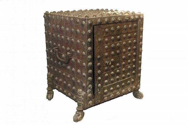 Rad piece...  large early Hobnail Safe. Gayler 'Salamander' Fireproof Office Safe, circa 1840, the safe within a safe having an air gap to provide against loss by fire, a solution made popular after the Great Fire of 1935 in New York City ...