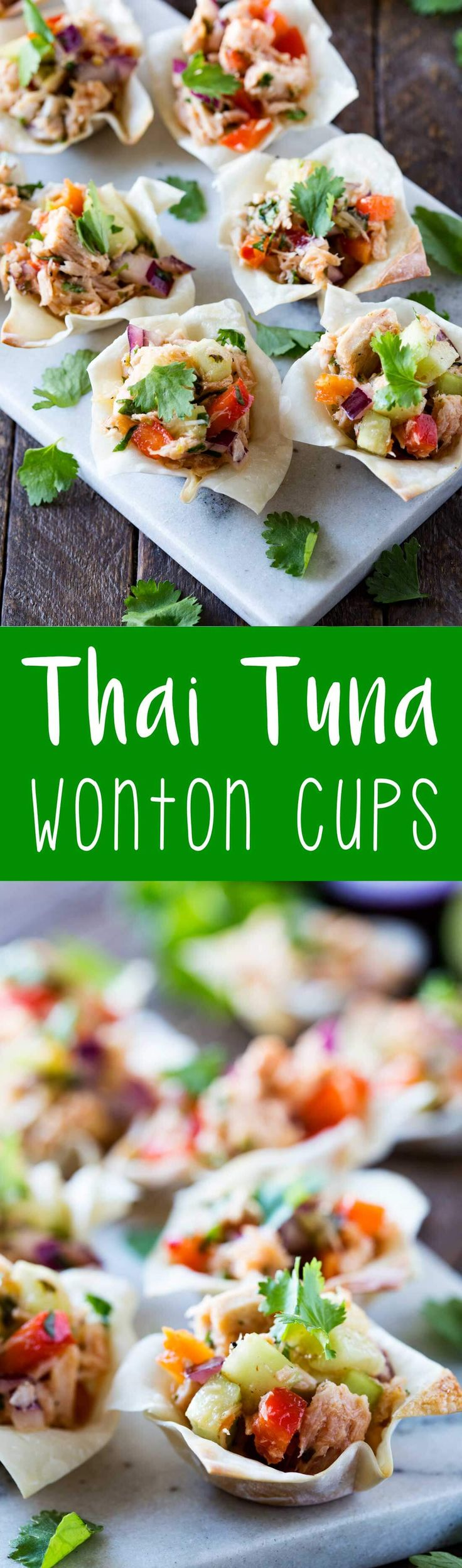 Thai Tuna Wonton Cups were the hit of my last party! #ad