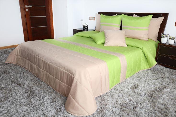 Kvalitné béžové prehozy na posteľ