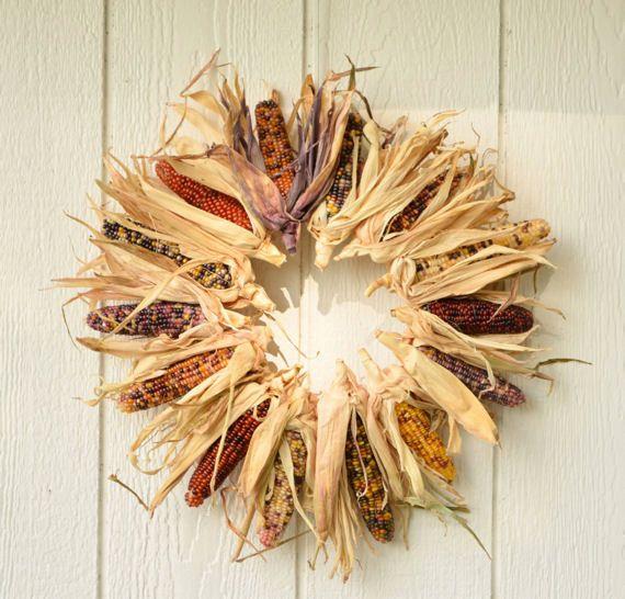 Autumn Indian Corn Wreath