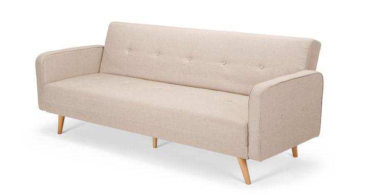 Chou, canapé convertible, blanc de céruse | Sofa bed ...