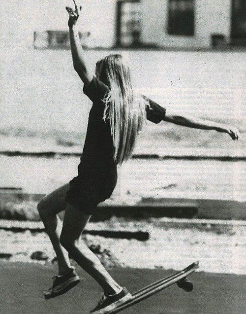 vintage skateboard girl photo | surfing skating :) | Pinterest