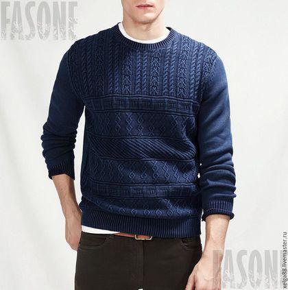 свитер, свитер вязаный, свитер мужской, свитер спицами, свитер хлопковый, свитер…