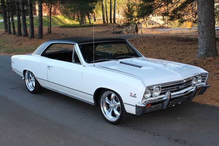 1967 Chevrolet Chevelle coupe SS / Super Sport 396 cid big block with polished American Racing Torq Thrust II wheels http://classic-auto-trader.blogspot.com