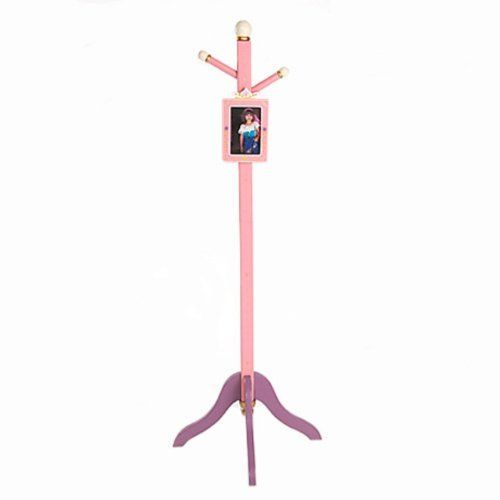 Levels of Discovery Royal Princess Wooden Standing Coat Rack by Levels of Discovery. $74.04. 2 pegs for hanging coats. Quality wood construction. Doubles as a measuring stick. Kid-safe pink and lilac paint. Movable photo frame. The Royal Princess Coat Rack is a must-have for every little girl's room. This pretty, pink coat rack has two pegs to keep your child's coats, sweaters, jackets and hats tidy and off the floor. The coat rack's stand also doubles as a measuring stick a...