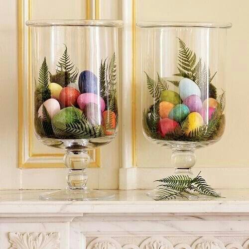 Oster- Dekoration im Glas