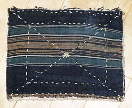 Article on zokin, Japanese dust cloths. Picture shows zokin made out of Indigo scrap.