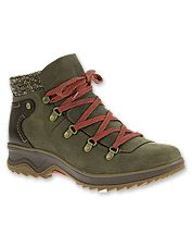 These waterproof leather hiking boots by Merrell bring stylish good looks to the trail.