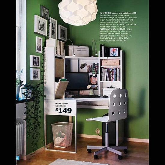 IKEA corner office perfect sized work area just need filing cabinets for paperwork