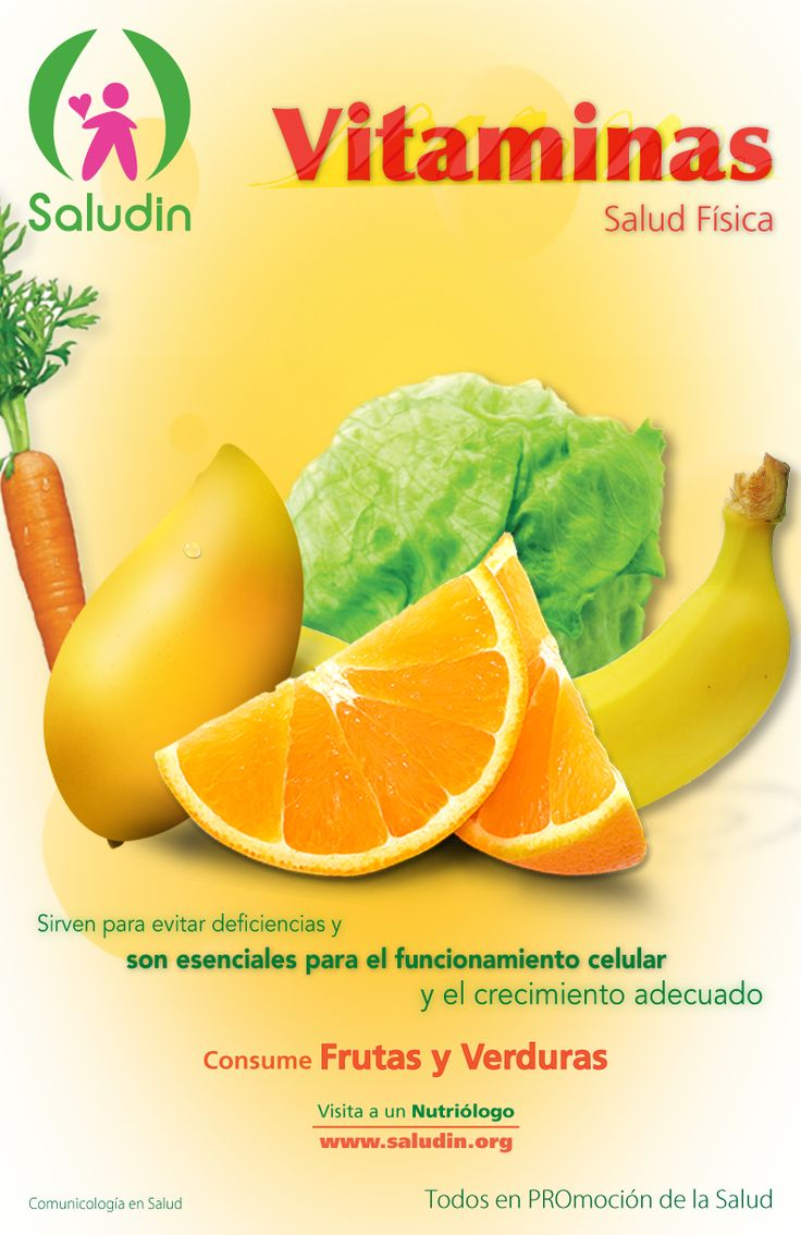 Cartel #Vitaminas #Nutricion Sirven para evitar deficiencias y son necesarias para el buen funcionamiento celular.