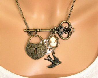 Victoriana Steampunk collar joyería Steampunk por RalstonOriginals
