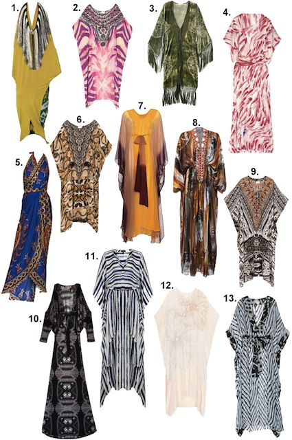 Check out my favorite kaftans here for a luxurious beach cover up! Which one is your favorite?
