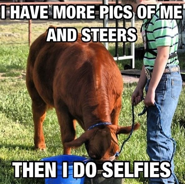 Madison definitely has more pics of her and cows than selfies- LOL
