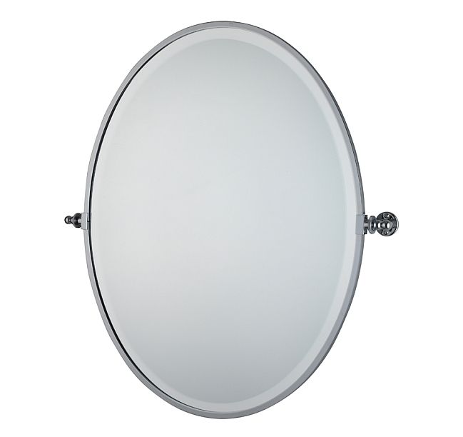 An Essential Above Any Wash Basin This Tilting Oval Bathroom Mirror Is Available In Brass Nickel Or Chrome To Complement Your Fittings