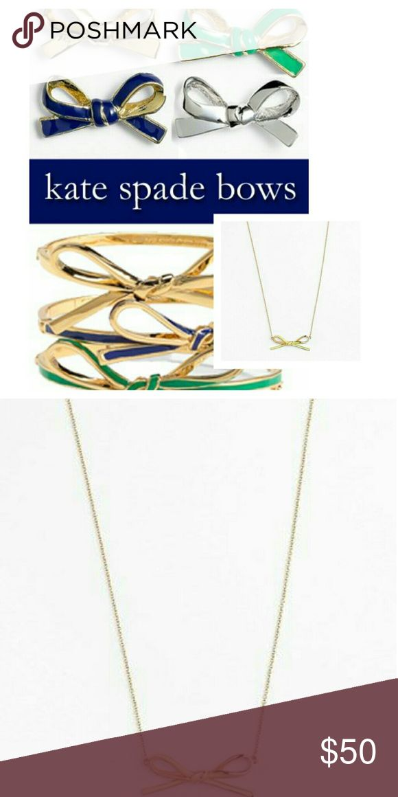 "Kate Spade Gold/ Green Skinny Mini Bow Necklace NWOT!  Kate Spade Gold and Green Skinny Mini Bow Necklace  17"" Length 4"" height  Buy Now or Bundle and Save Suggested SELLER SAME DAY SHIPPING  SHOP WITH CONFIDENCE kate spade Jewelry Necklaces"
