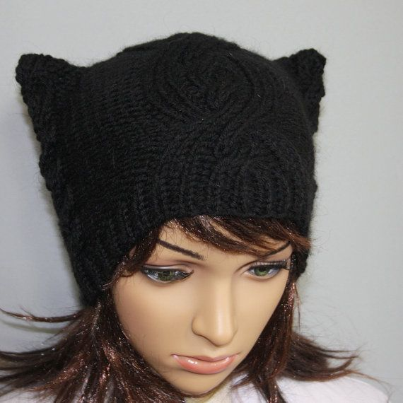 womens slouchy  beanie hat  Slouch Beanie  Large by WoolyThinker, $28.00