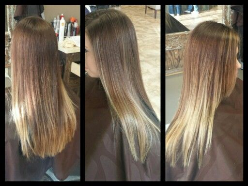 Balayage Highlights straight styled