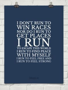 We run for ourselves!!!