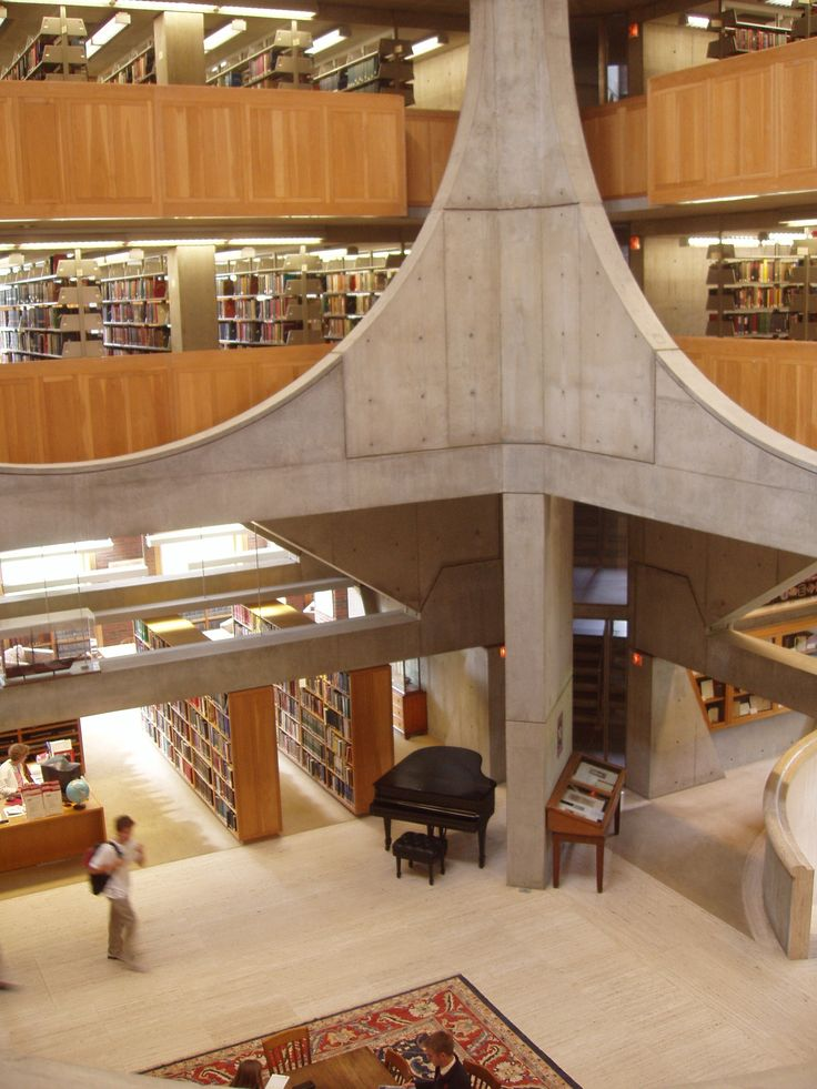 My high school library... Louis Kahn : Phillips Exeter Academy library, Exeter, New Hampshire. 1971