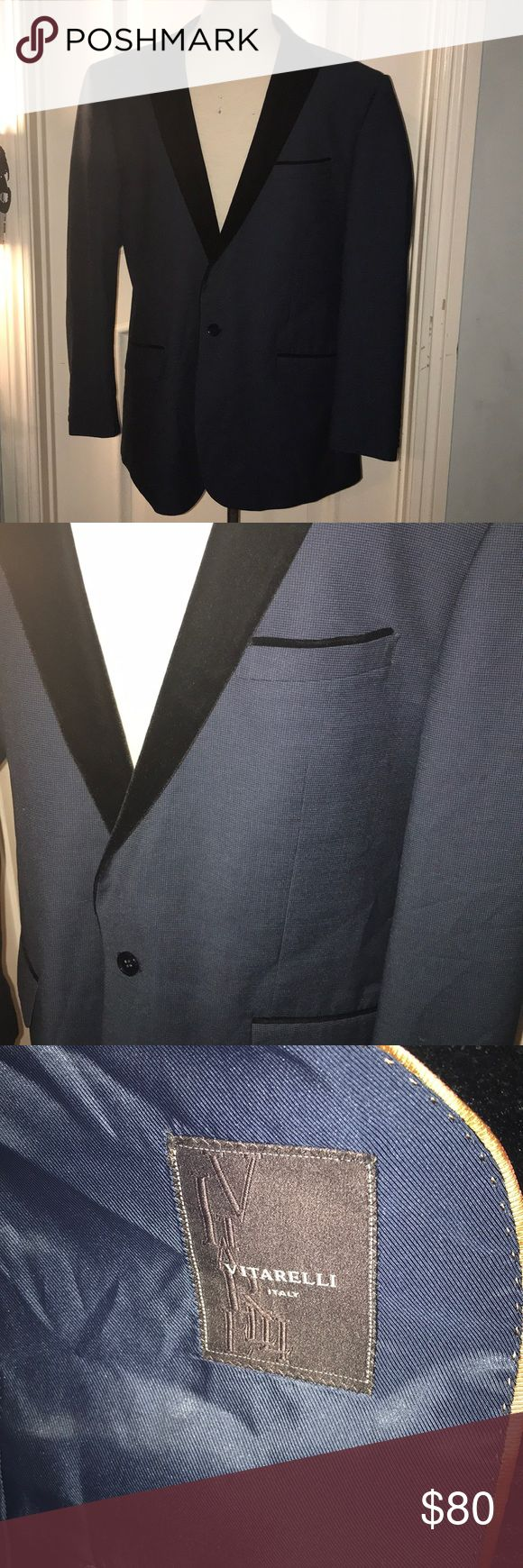 Men's velvet lapel one button suit jacket This sports coat is great for any event it's both formal and semi-formal this one button Vitarelli suit jacket made in Italy would look amazing w jeans or slacks. Open to offers or trades. vitarelli Suits & Blazers Sport Coats & Blazers