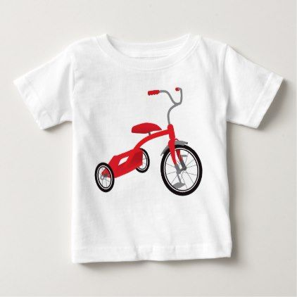 Red Tricycle Graphic Baby T-Shirt  $13.70  by AndiPahl  - cyo customize personalize unique diy idea
