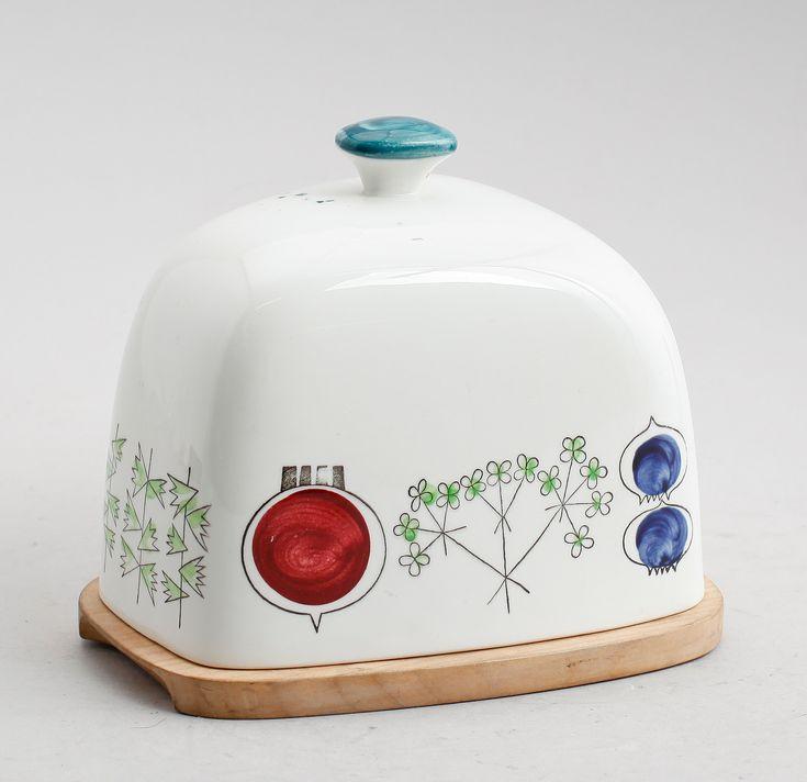 "Glassbowl for cheese, porcelain, ""Picnic"", Marianne Westman, Rörstrand."