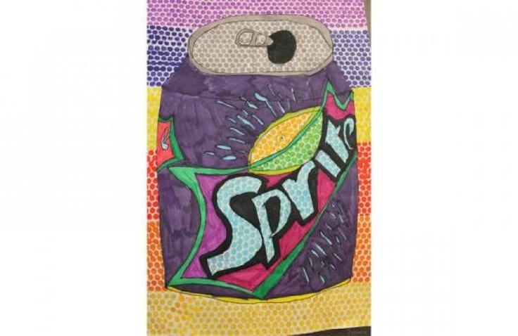Artwork from student at Hampshire Collegiate School - Year 5 Pop Art - Sprite