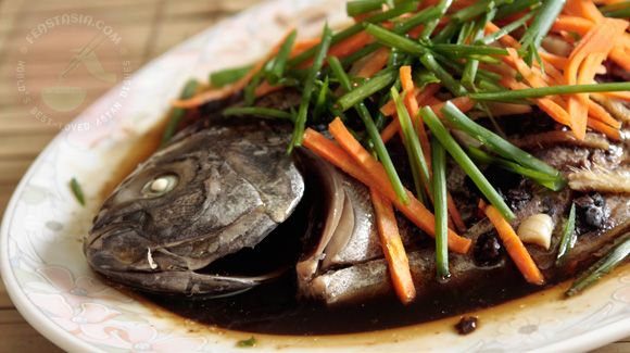 fish with black bean sauce. This recipee calls for steaming the fish ...