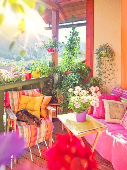 Balkonideen von eva brenner diy deko f r drau en balconies for Terrace color combination