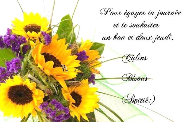 Pour égayer ta journée et te souhaiter un bon et doux jeudi. Câlins, Bisous, Amitié :)