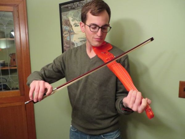 3ders.org - F-F-Fiddle: a fully 3D printed electric violin made on a home 3D printer   3D Printer News & 3D Printing News