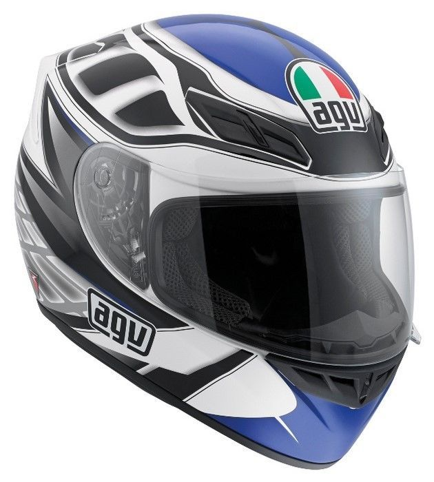 NEW AGV K4 EVO DIAPASON WHITE BLACK BLUE LARGE 0101-6789 #AGV