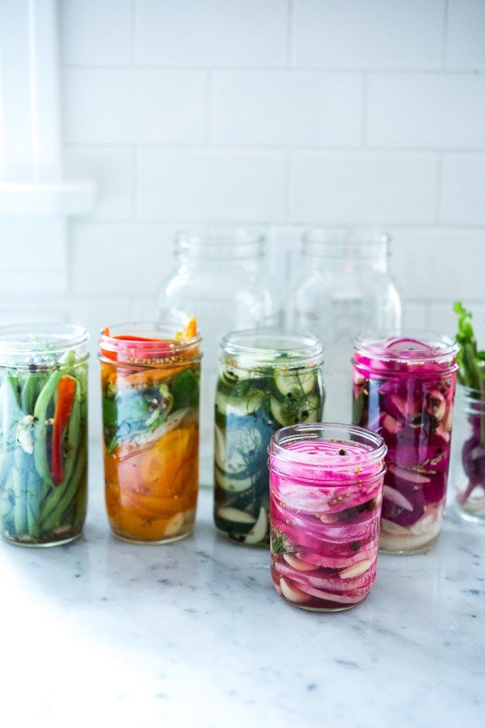 Extend the life of summer produce with the simple recipe for Quick Pickled Refrigerator Veggies! | Feasting At Home