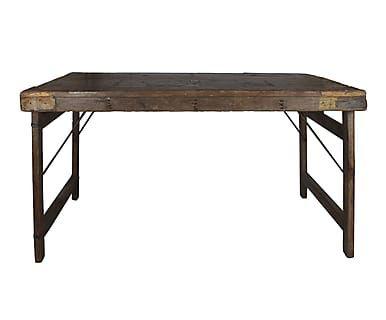 Mesa plegable en madera reciclada Rural - marrón